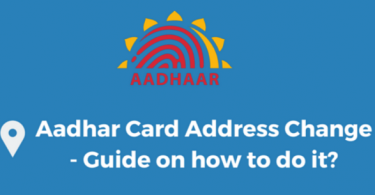 Aadhar Card Address change online steps
