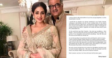 Boney Kapoor Emotional Note On Losing Sridevi