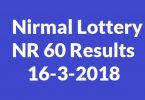 Nirmal Lottery NR 60 Results 16-3-2018