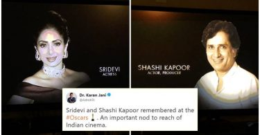 Oscar 2018 Sridevi & Shashi Kapoor's Honoured