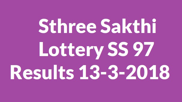 Sthree Sakthi Lottery SS 97 Results 13-3-2018
