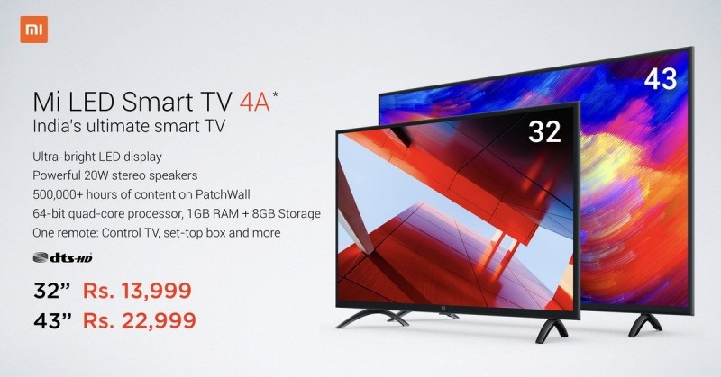 Xiaomi Mi LED Smart TV 4A First Flash Sale
