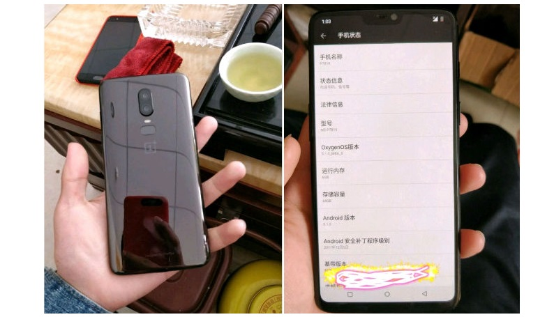 Potential images of OnePlus 6 leaked, shows iPhone-like notch on front