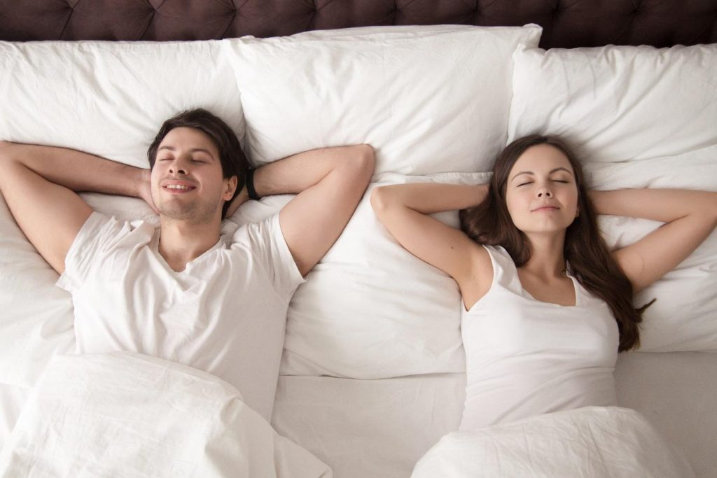 man-woman-sleeping
