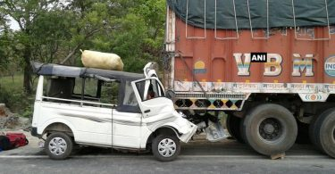 Nine dead after vehicle carrying 17 people rams into truck in UP