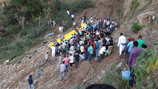 Dozens dead after school bus plunges off cliff in Himalayas