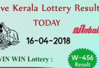 Live: Win Win Lottery W 456 Results 16-4-2018 Kerala Lottery Result Today