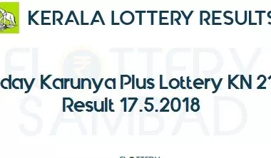 Live: Karunya Plus Lottery KN 213 Results 17-5-2018 Kerala Lottery Result Today