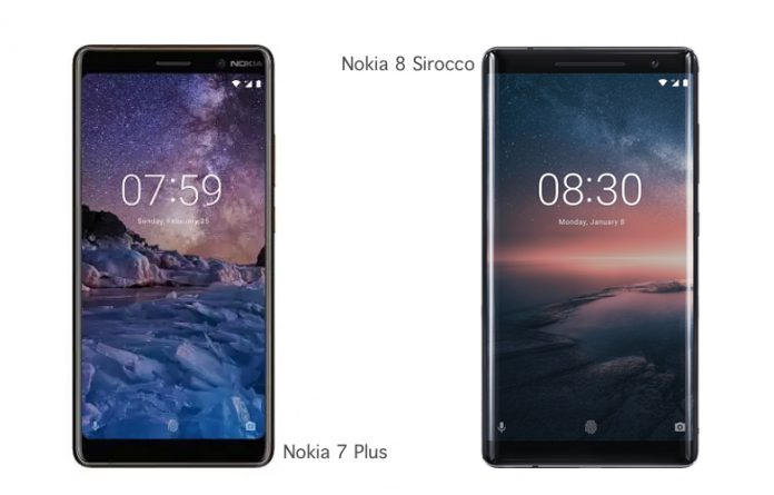 New Nokia 8 Sirocco & Nokia 7 Plus: Comparison, Price and Specifications