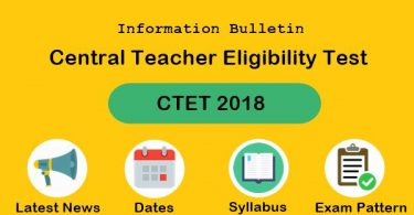 The Central Teacher Eligibility Test (CTET) 2018 notification would be released by the Central Board of Secondary Education (CBSE) tomorrow.