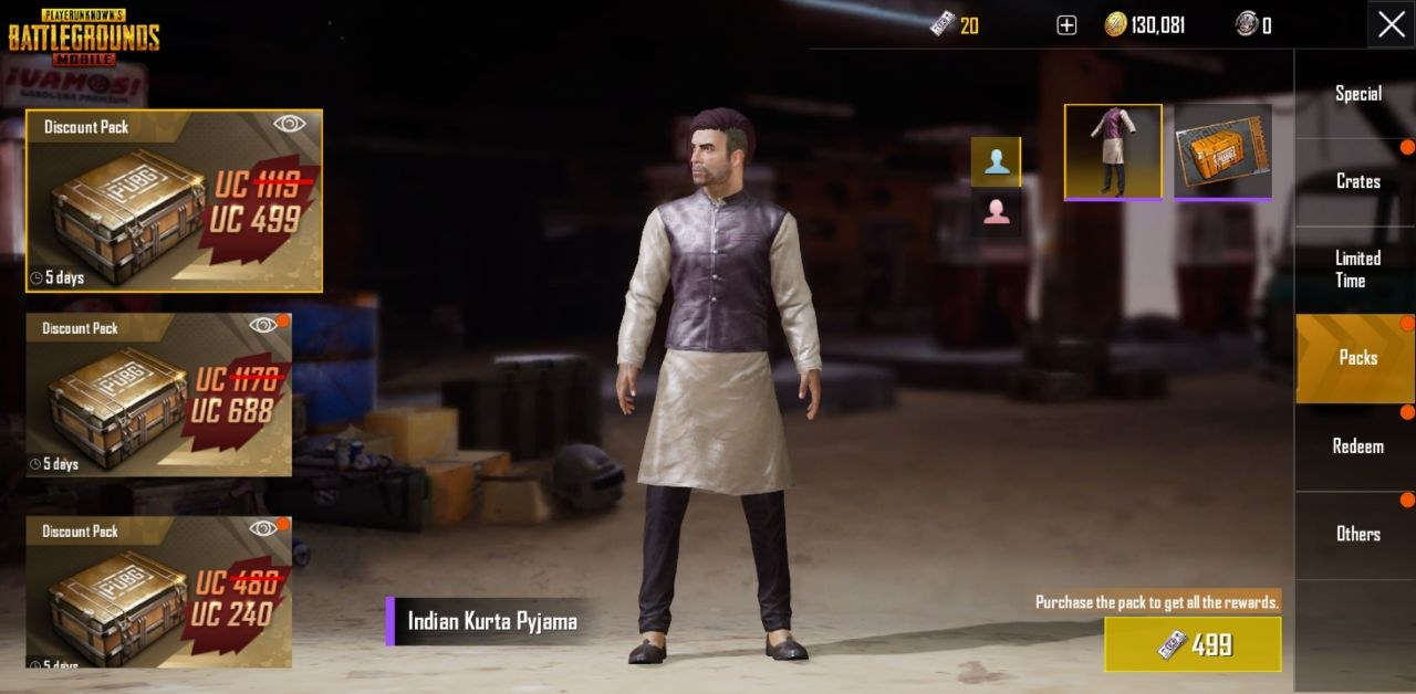 Pubg Mobile Update 0 9 0 Adds Halloween Skins Night: PUBG Mobile Adds New Events For Diwali And A Kurta-pajama