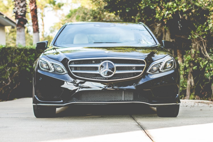 black Mercedes-Benz