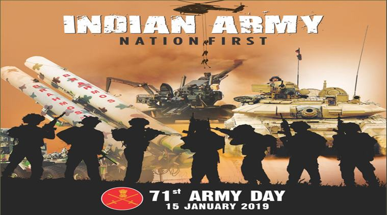 Indian Army Day 2019 Speech Essay Sayings Status Sms Logo