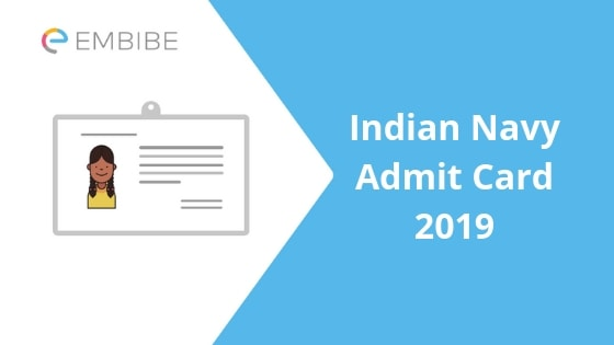 Indian Navy SSR, AA, MR Exam Admit Card 2019 Download Hall Ticket at