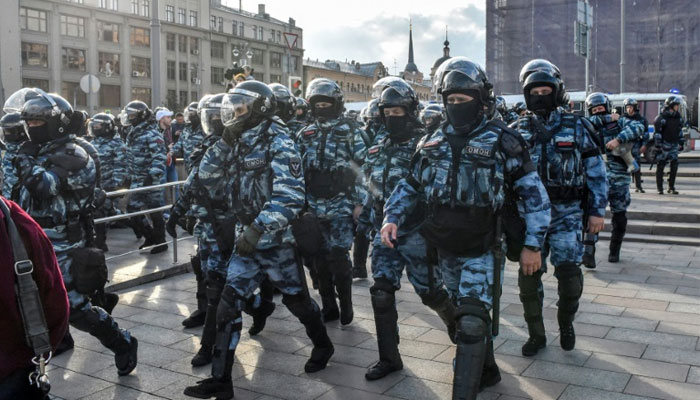 Russia protests: video of police probe punching woman sparks inquiry